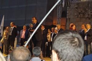 Fondi, il palco della manifestazione del 9 settembre 2009