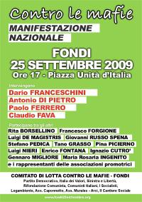 Contro le mafie - Manifestazione nazionale - Fondi 25 settembre 2009