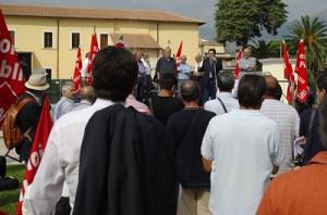 1 ottobre 2009: la Cgil in piazza a Fondi contro le mafie