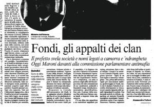 Corriere della Sera, 25 novembre 2009