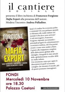 Presentazione Mafia Export a Fondi